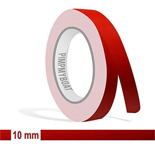 Siviwonder Zierstreifen rot matt in 10 mm Breite und 10 m Länge Aufkleber Folie für Auto Boot Jetski Modellbau Klebeband Dekorstreifen - Matt Rot