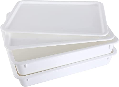 high quality Pizza Dough Proofing Box sale - Stackable Commercial Quality Trays with Covers sale (17.25 x 13 Inches) - 2 Trays and 2 Covers online