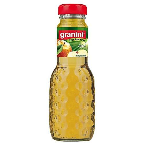 24 Flaschen a 200ml Granini Apfelsaft klar in MEHRWEG Pfand Flaschen Apfel Trinkgenuss