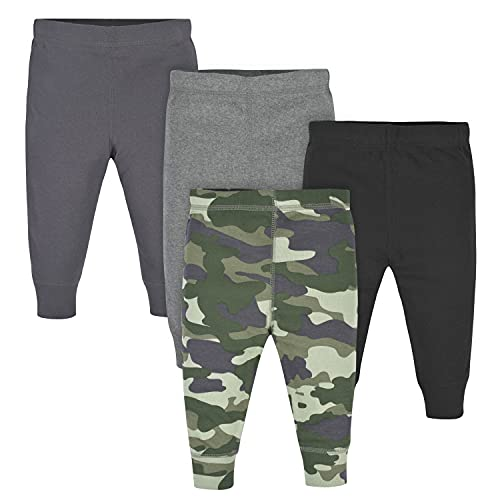 Gerber Baby Boys' 4-Pack Pants, Camo/Gray, 12 Months