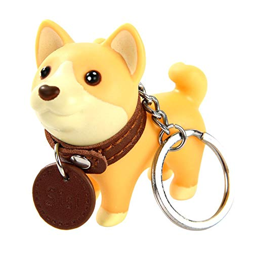 Demarkt Schlüsselanhänger in Form eines süßen Cartoons Shiba Inu Welpen Polyethylen Schlüsselanhänger Hund Keychain Charms Netter Schlüsselbund