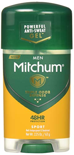 Mitchum Anti-Perspirant & Deodorant Clear Gel, Sport, 2.25 oz (63 g) (Pack of 12)