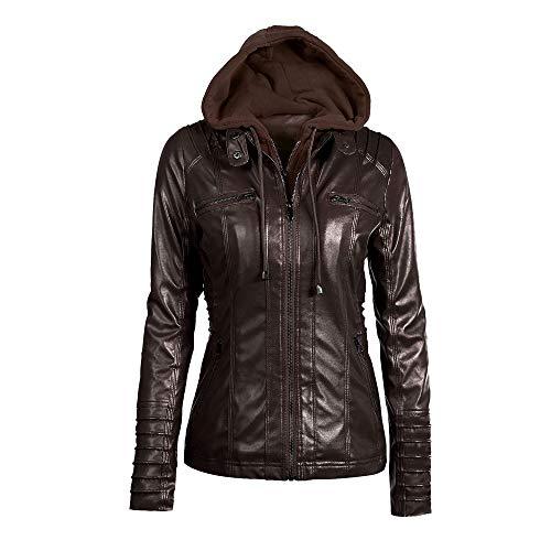 Best Bargain Toraway Women Slim Hooded Jacket Overcoat Coat Lapel Removable Zipper Outwear Tops Park...