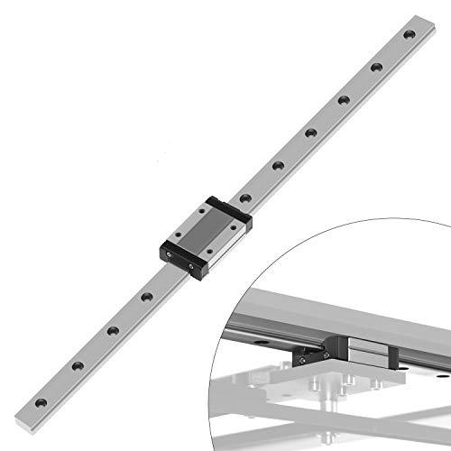 MGN12H Mini Lineare Schienenführung, Linear Schiebe Gide mit Carriage Block Linearführungen für DIY 3D Drucker und CNC-Maschine XYZ DIY (400mm)