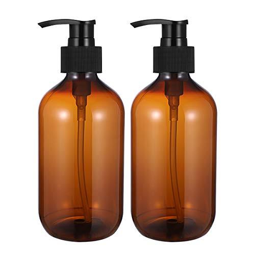 OUNONA 2Pcs 500Ml Leere Shampooflaschen Undurchsichtig Vielseitige Pumpflasche Tropffreier Lotionsbehälter Handseifenspender (Hellbraun)