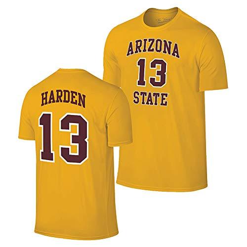 Elite Fan Shop James Harden Retro Arizona State Basketball Jersey Tshirt - XX-Large - James Harden Gold