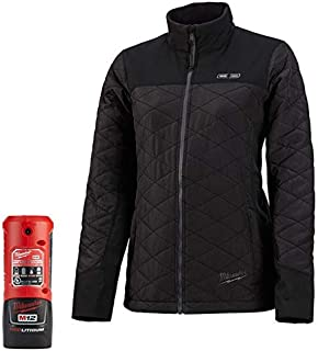 MILWAUKEE M12 HEATED WOMEN'S AXIS JACKET KIT BLACK (Medium)