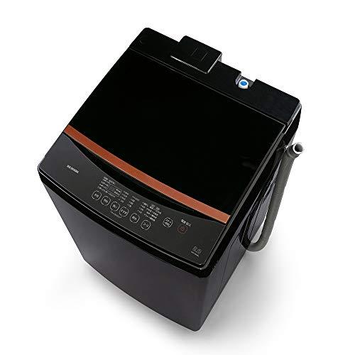 アイリスオーヤマ 全自動洗濯機 洗濯容量8kg 本体幅59cm ブラック IAW-T803BL