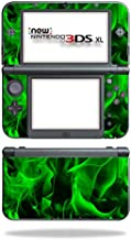 Mightyskins Skin Compatible With Nintendo 3ds Xl (2015) - Green Flames   Protective, Durable, And Unique Vinyl Decal Wrap Cover   Easy To Apply, Remove, And Change Styles   Made In The Usa