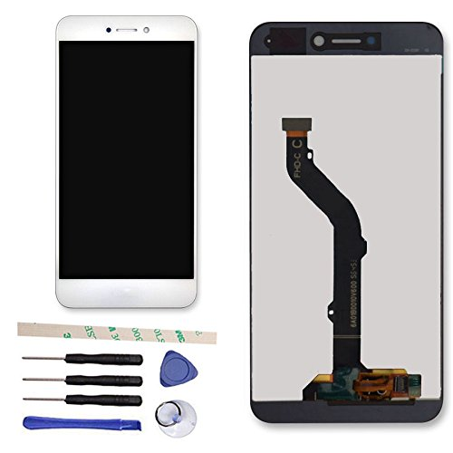 Draxlgon Completa Pantalla LCD Pantalla Táctil Digitalizador Asamblea para Huawei P8 Lite 2017 Pra-LX1 PRA-LX3/Honor 8 Lite (Blanco)