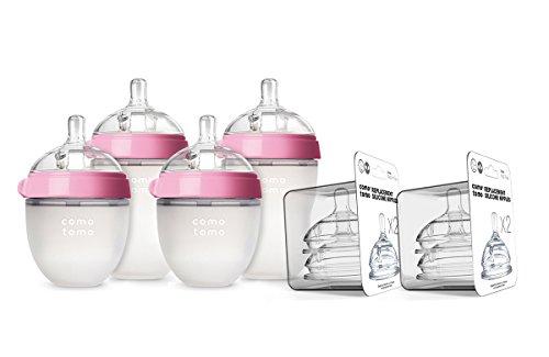 Comotomo Newborn Bottle Set Pink