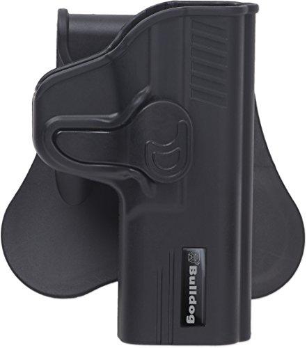 Bulldog Cases Rapid Release Polymer Holster (Fits Standard Ruger SR9), Black