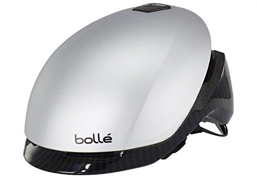 Bolle Messenger Premium Casco de Bicicleta, Unisex Adulto, Carbono Plateado, 58-62 cm