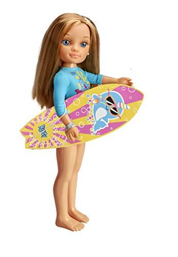 NANCY-Un día Haciendo Surf, Incluye Muñeca con Tabla y Neopreno,
