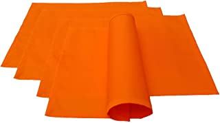 Lot de 4 Sets de Table Lemos-Home - Environ 46 x 36 cm en Coton Plusieurs Couleurs (Orange)