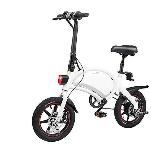 Bicicleta eléctrica Adultos 35km / H D2 400W / 48V Desplazando Plegar E Scooter para Adultos para Adultos Aplicación de la Rueda de 14 Pulgadas en Polonia-White