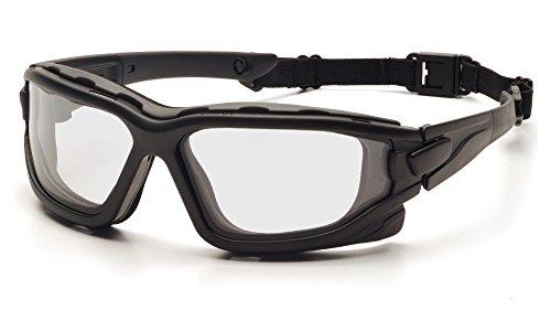PYRAMEX I-Force Slim Safety Goggle, Black Frame/Clear Anti-Fog Lens