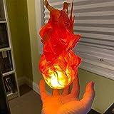 Tik LP Accesorio De Bola Fuego Flotante, Flotante/Iluminado 2.0 para Cosplay, Convención, Juego Roles, Accesorios Brillante, Llama Decoración Halloween (Size : Rojo)