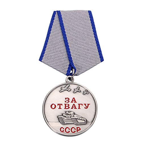 GuDeKe Medalla de la URSS de la Segunda Guerra Mundial por el Valor FOR Courage (ЗА ОТВАГУ)