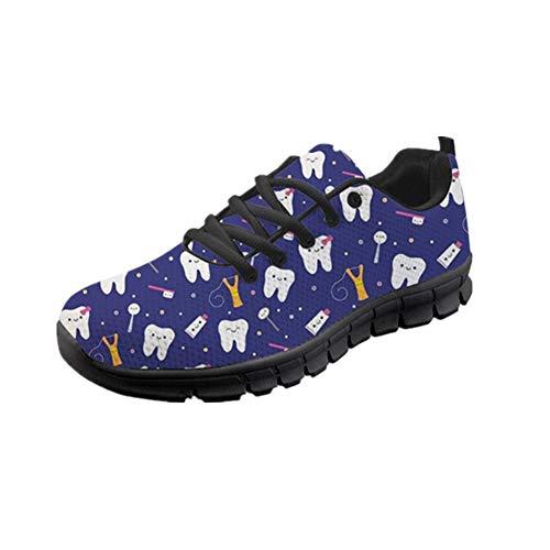 POLERO Sneaker Zapatillas de Deporte Muela para Dama Mujer con Cordones 36 Talla Europea