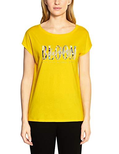 STREET ONE Damen 314672 T-Shirt, shiny yellow, 46