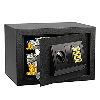 Security Safe Box Fireproof and Waterproof Home Safe Lock Box Cabinet Safes with Keypad 0.5 Cubic Feet Steel Safe Box for Home & Office Protect Cash Money Jewelry Gun  13.8  x 9.8  x 9.8