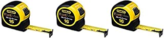 Stanley 33-716 16-Foot-by-1-1/4-Inch FatMax Tape Rule with Blade Armor (3-Pack)