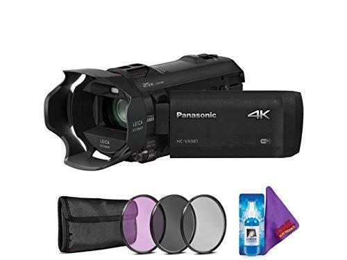 Panasonic HC-VX981K 4K Ultra HD Camcorder + Creative Filter Kit