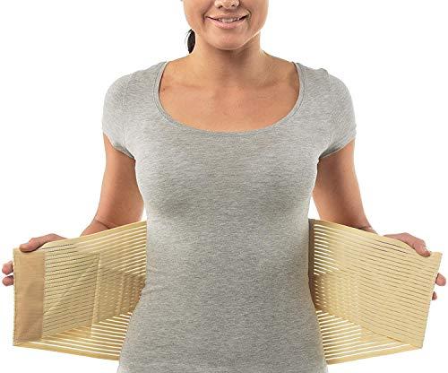 Rückenbandage für Damen und Herren von aHeal | Orthopädische Rückenbandage für die unteren Lenden | Rückenbandage und Stützgürtel zur Linderung von Rückenschmerzen | Größe 3 Haut