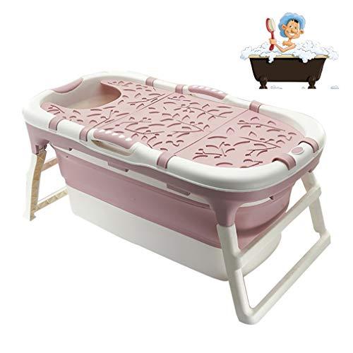 GYF Bañera Plegable para Adulto Bañera for Adultos Bañera Plegable portátil Baby Baby Bathtub Plato de Ducha Plegable de bañera Grande for el hogar bañera portátil Bebe 2 Colores (Color : Pink)