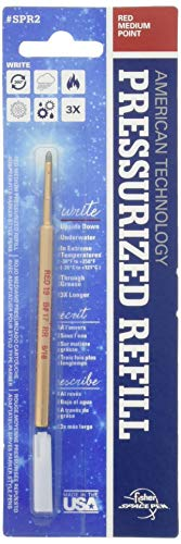 Fisher Space Pen Point Pressurized Refill, Red Medium (SPR2)