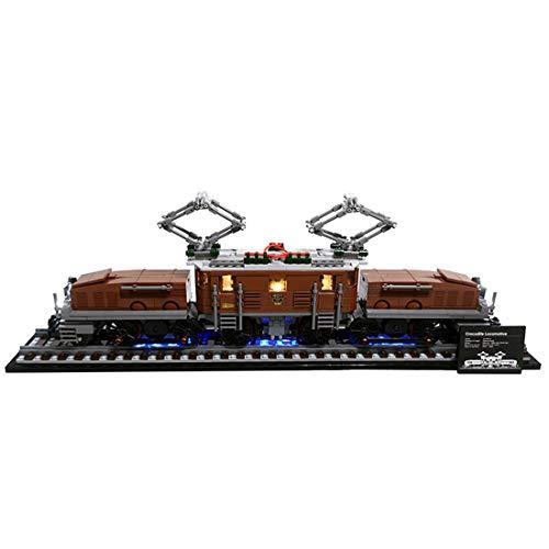 HYMAN Kit di illuminazione a LED Decorazione per Locomotiva a coccodrillo, Compatibile con Lego 10277 (Modello Lego non incluso) - Versione classica