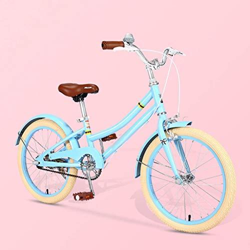 TXTC Niños Niños Y Niñas De La Bici, Bicicleta Cruiser con Doble Freno, Cómodo Y Ergonómico Silla Madre, Niños del Viajero Bicicleta Durante 6-10 Años De Edad Niños Y Niñas (Color : B-18in)