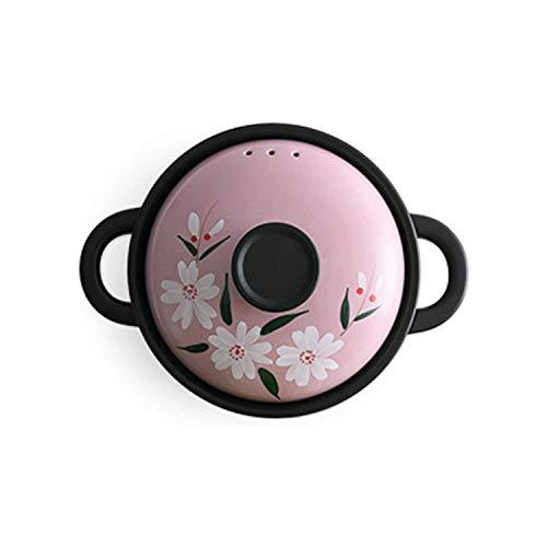 aedouqhr Cazuela de cerámica, Estufa Resistente al Calor con distribuidores, Utensilios de Cocina Chinos, Seguro y Saludable: -296 (Color: Rosa, Tamaño: 3.5L)