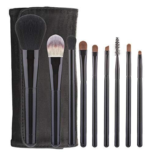 WFBD-CN Pinceau de Maquillage Maquillage Brush Set Rafraîchissant 9 débutants Outils de Maquillage Jeu de Pinceau de Maquillage (Handle Color : Black)