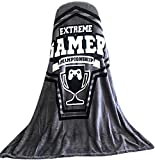 Video Game Throw Blankets with Gamer Controller Extreme Gamer Championship Blanket Super Soft 50 x 60 inches Fleece Throw Great Gift or Travel Blanket
