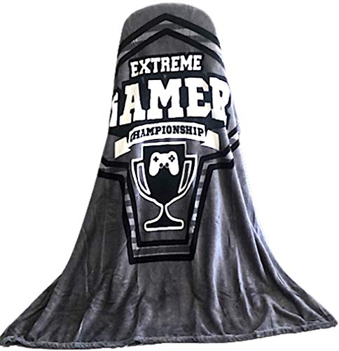 Video Game Throw Blankets with Gamer Controller Extreme Gamer Championship Blanket Super Soft 50 x...