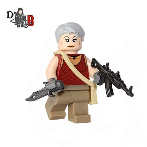Demonhunter Bricks Custom The Walking Dead Carol Peletier Minifigur mit Maßanfertigung Sturmgewehr und Messer.