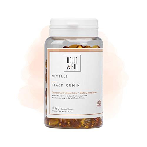 Belle & Bio - Nigella eļļa - 120 kapsulas - 2000 mg - Dabas aizsardzības līdzekļi - Ražots Francijā