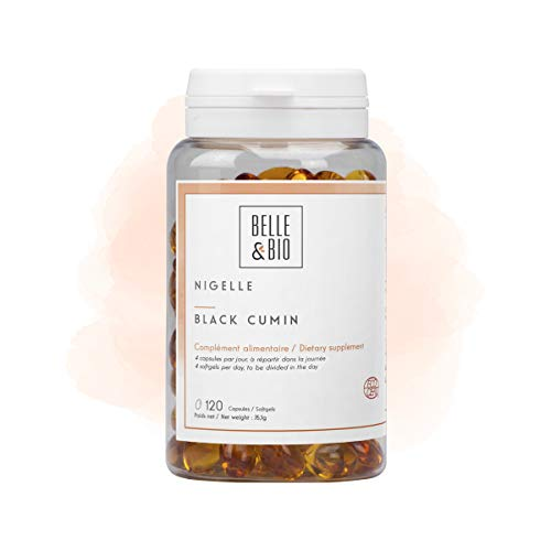 Belle&Bio - Huile de Nigelle - 120 capsules - 2000 mg - Défenses Naturelles - Fabriqué en France