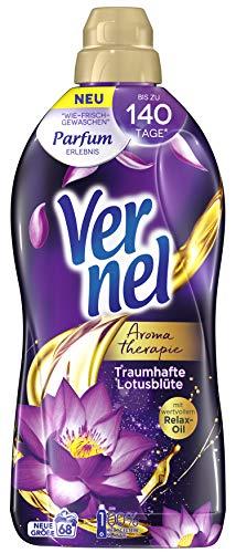 Vernel Aromatherapie Traumhafte Lotusblüte, Weichspüler, für einen langanhaltenden Duft und traumhaft weiche Wäsche (68 (1x68) Waschladungen)
