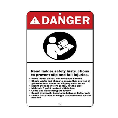 WENNUNA Gevaar Lezen Ladder Veiligheidsinstructies Voorkomen Verwondingen 8