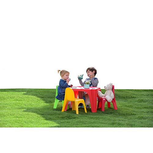 KG KitGarden Set Infantil de 4 sillas + 1 Mesa, Multicolor, Keren, Grande