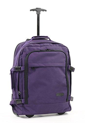 Members Essential On-Board Travel Backpack on Wheels in Purple
