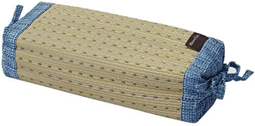 Ikehiko - Almohada tradicional japonesa en hierba Igusa natural, altura regulable, 30 x 15 cm (azul 7559159)
