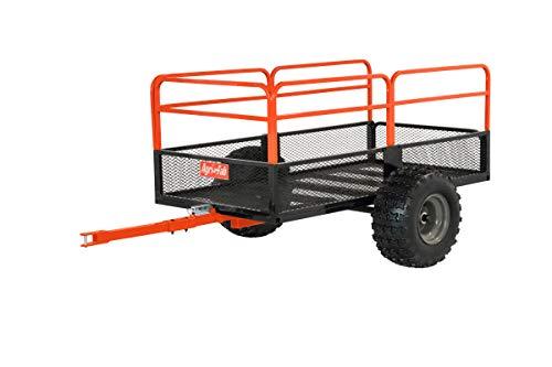 Agri-Fab Inc 45-0554, 1,250-Pound, ATV/UTV Swivel Steel Dump Cart, Orange/Black