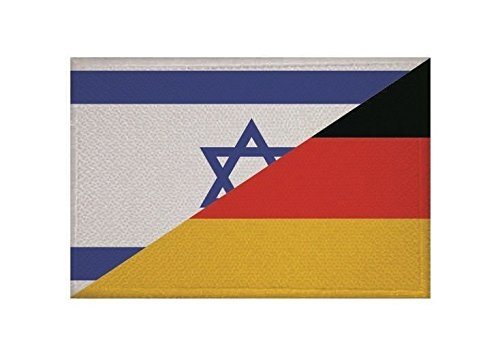 U24 Aufnäher Israel-Deutschland Fahne Flagge Aufbügler Patch 9 x 6 cm