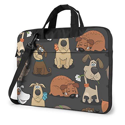 Bulldog Corgi Print Laptop Sleeve Compatible with 13-15.6 Inch, Notebook Computer Briefcase Bag