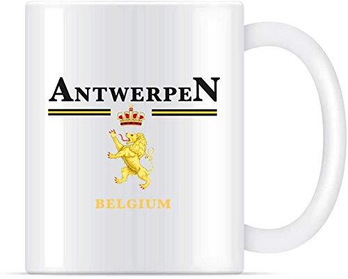 Antwerpen België Classic Europe Travel Leeuwen Keramische Koffie Mokken Cups