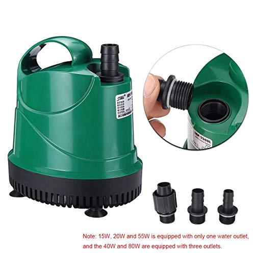 HKJKJLL 1000-3500L / H Leise Tauchwasserpumpe Aquarium Teich Tank Marine ABS Box 220 V-240 V 50 Hz Temperaturregelung,40w